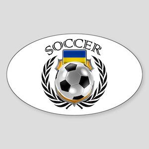 Ukraine Soccer Fan Sticker
