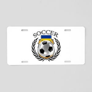 Ukraine Soccer Fan Aluminum License Plate