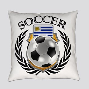 Uruguay Soccer Fan Everyday Pillow