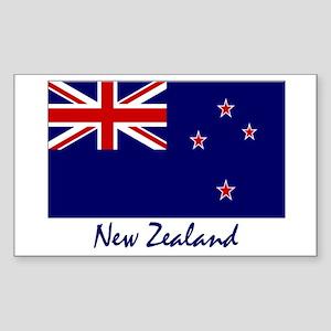 New Zealand Flag Rectangle Sticker