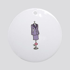 Dressmaker Form Round Ornament