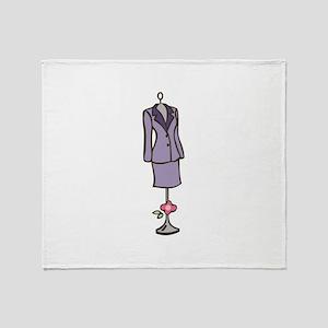 Dressmaker Form Throw Blanket