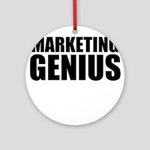 Marketing Genius Round Ornament