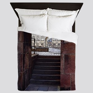 Steps to the Archway Queen Duvet