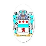 Queeny Oval Car Magnet