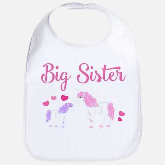 Big Sister Unicorn Bib