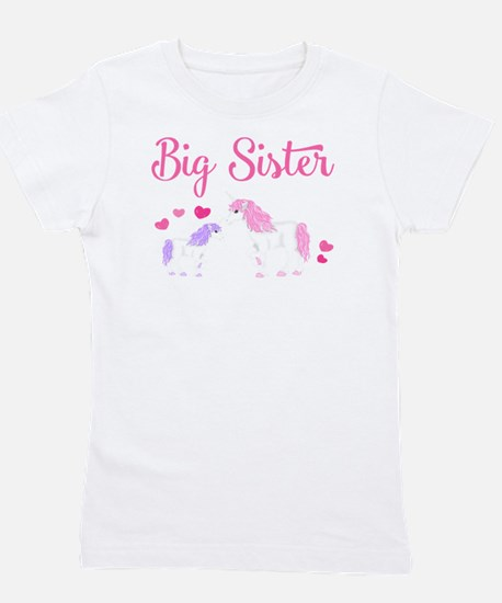 Big Sister Unicorn Girl's Tee