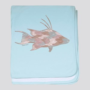 Cindy's Camo Hogfish baby blanket