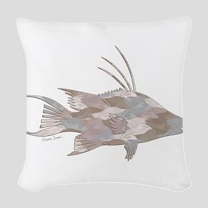 Cindy's Camo Hogfish Woven Throw Pillow