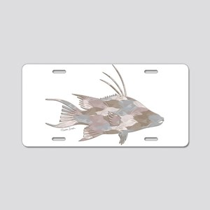 Cindy's Camo Hogfish Aluminum License Plate