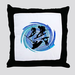 WAKEOBARDING Throw Pillow