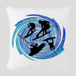 WAKEOBARDING Woven Throw Pillow