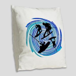 WAKEOBARDING Burlap Throw Pillow