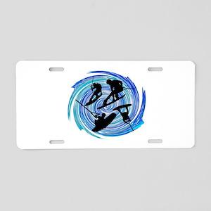 WAKEOBARDING Aluminum License Plate