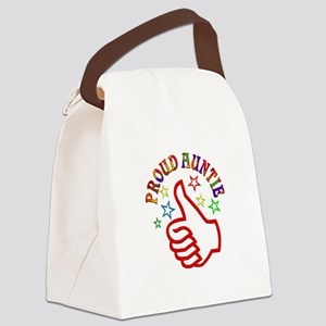 Proud Auntie Thumbs Up Canvas Lunch Bag