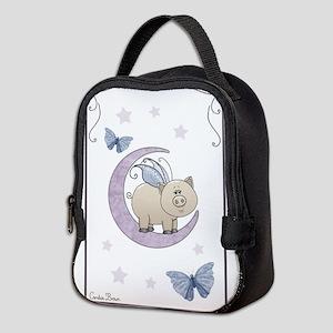 Piggy on the moon II Neoprene Lunch Bag