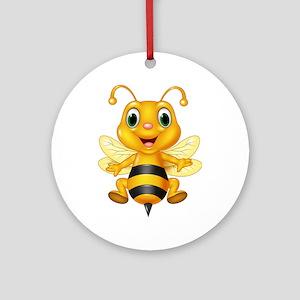 Honey bee Round Ornament