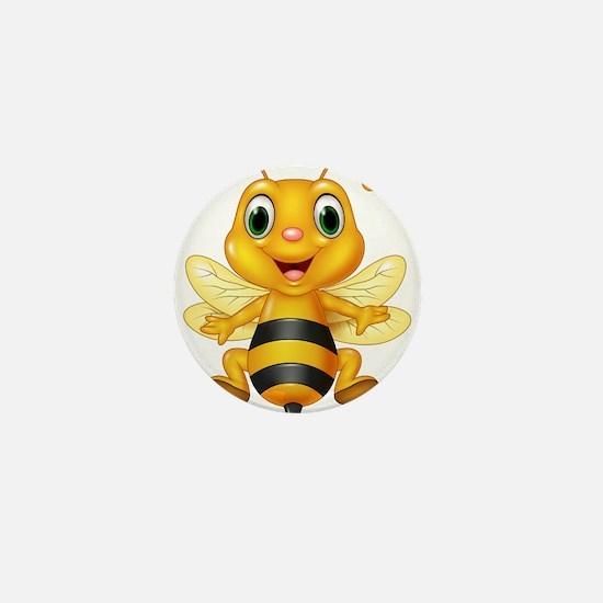 Honey bee Mini Button
