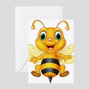 Honey bee Greeting Cards