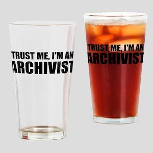 Trust Me, I'm An Archivist Drinking Glass