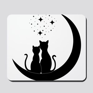 Stargazing cats Mousepad
