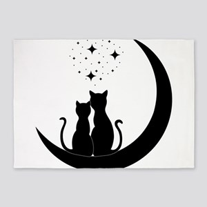 Stargazing cats 5'x7'Area Rug