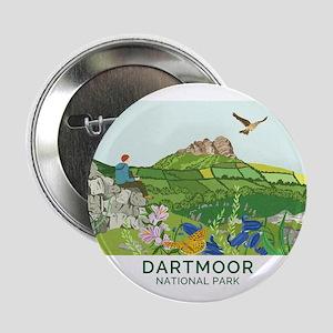"""Dartmoor National Park Badge 2.25"""" Button"""