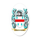 Quartermaine Oval Car Magnet