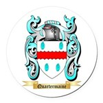 Quartermaine Round Car Magnet