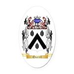 Quarell Oval Car Magnet