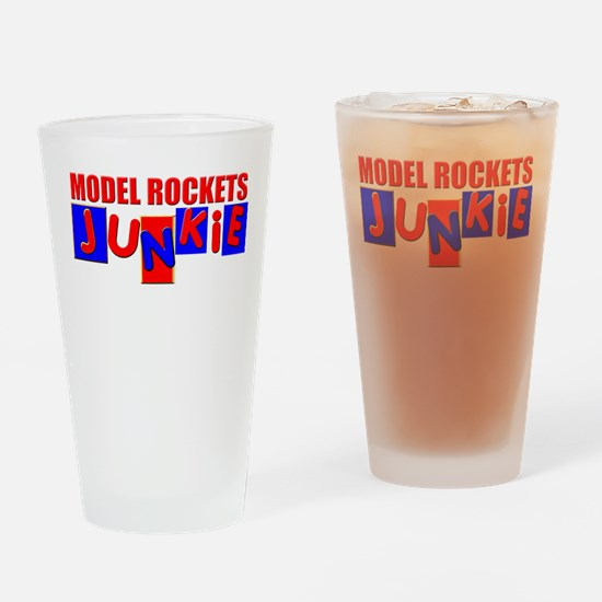 Model Rockets Drinking Glass