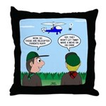 Helicopter Parents Throw Pillow