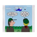 Helicopter Parents Throw Blanket