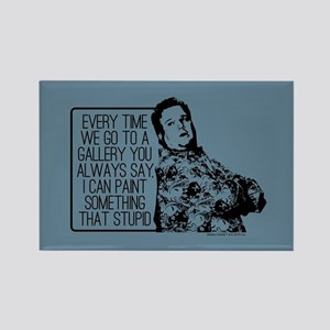 Modern Family Cam Painting Rectangle Magnet