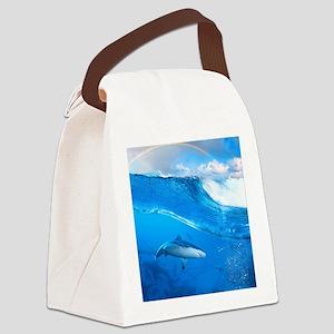 Underwater Shark Canvas Lunch Bag