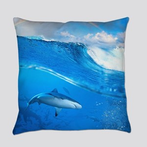 Underwater Shark Everyday Pillow