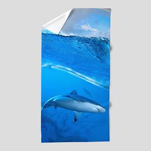 Underwater Shark Beach Towel