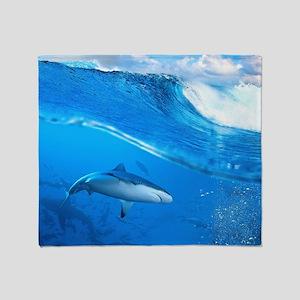 Underwater Shark Throw Blanket