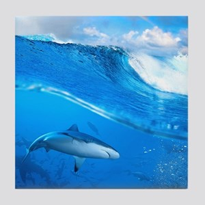 Underwater Shark Tile Coaster
