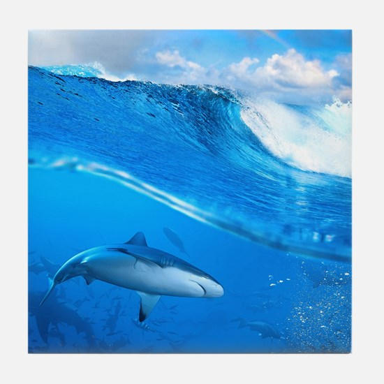 Underwater Shark Tile Coaster