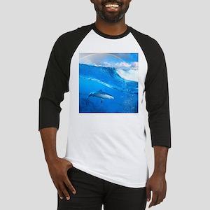 Underwater Shark Baseball Jersey