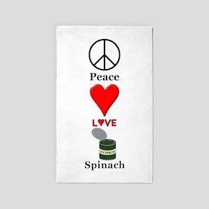 Peace Love Spinach Area Rug