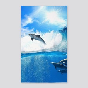 Beautiful Dolphins Area Rug