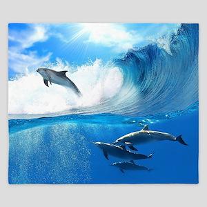 Beautiful Dolphins King Duvet