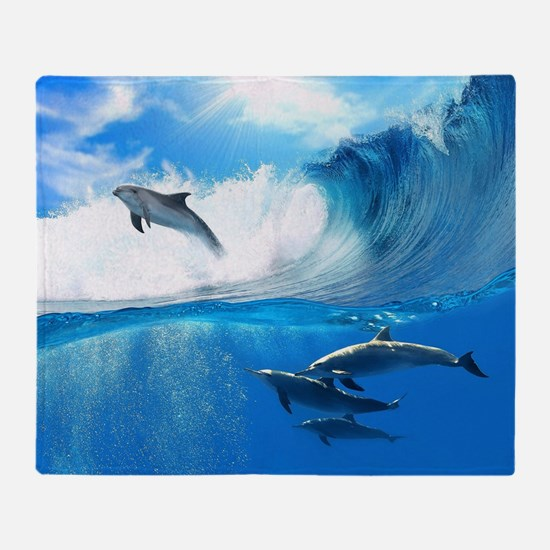 Beautiful Dolphins Throw Blanket