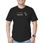 I Love Spinach Men's Fitted T-Shirt (dark)