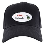 I Love Spinach Black Cap