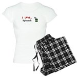I Love Spinach Women's Light Pajamas