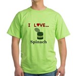 I Love Spinach Green T-Shirt