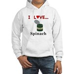 I Love Spinach Hooded Sweatshirt